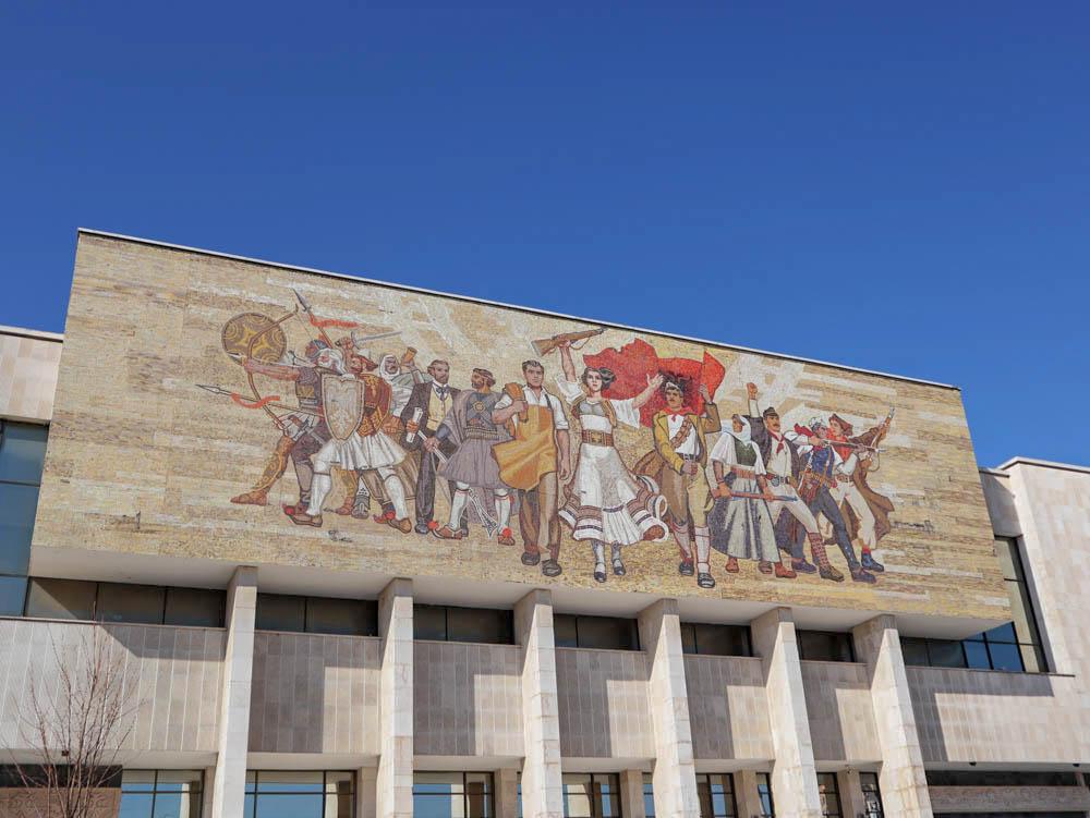 Nemzeti Múzeum, Szkanderbég tér, Tirana