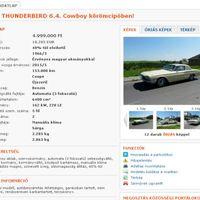 Ford Thunderbirdöt szeretne?