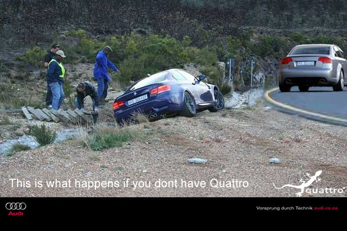 Ez történik, ha nincs Quattro( meghajtáso)d.