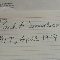 Paul A. Samuelson (1915-2009) (Közgazdasági Nobel-díj 1970)