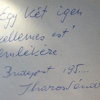 Iharos Sándor (1930-1996) dedikációja