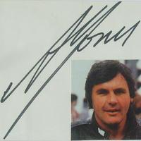 Alan Jones autogramja (Forma-1 világbajnokok sorozat)