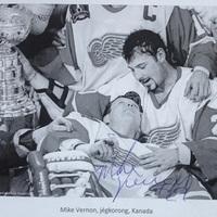 Budapesten járt Mark Vernon kanadai jégkorong bajnok