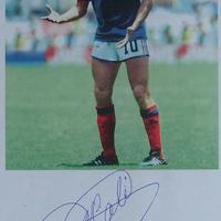 Michel Platini autogramja