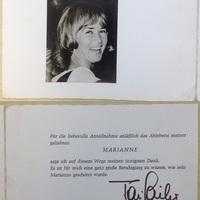 Toni Sailer (1935-2009) síelő aláírása