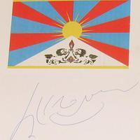 Autogramkérés a Dalai Lámától (Tendzin Gjaco)