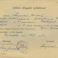 Nagy Imre (1896-1958) és Hegedüs András (1922-1999) aláírása