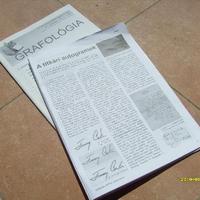 Klubalapítónk cikke a Grafológia c. szakmai folyóiratban