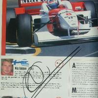 Mika Häkkinen autogramja (Forma-1 világbajnokok sorozat)