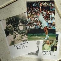 Rod Laver dedikált fényképei