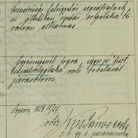 Kiss János altábornagy kézírása és aláírása