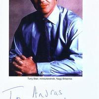 Tony Blair dedikált fotója