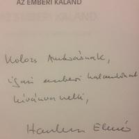 Hankiss Elemér (1928-2015) dedikációja