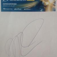 Forma-1 autogramok: Magyar Nagydíj 2014 (Daniel Ricciardo, Esteban Gutierrez és Kai Ebel)
