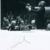 Lorin Maazel karmester autogramja