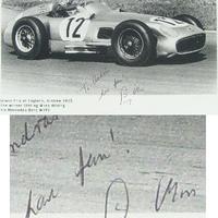 Sir Stirling Moss dedikált fotója