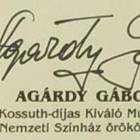 A legszebb magyar autogram (Agárdy Gábor, 1922-2006)