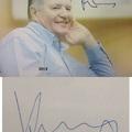 Kemény Dénes és Benedek Tibor autogramja