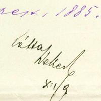 Wekerle Sándor miniszterelnök (1848-1921) aláírása