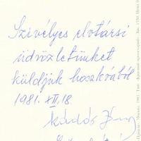 Kádár János (1912-1989) aláírása