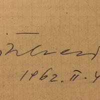 Bitskey Tibor (1929-2015) autogramja