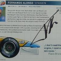 Fernando Alonso autogramja (Forma-1 világbajnokok sorozat)