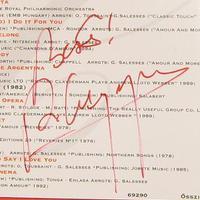 Richard Clayderman dedikációja