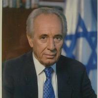 Simon Peresz dedikált fényképe