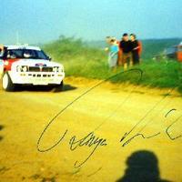 Ranga László (1957-2001) rali versenyző autogramja