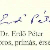 Erdő Péter bíboros autogramja