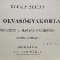 Kodály Zoltán (1882-1967) aláírása