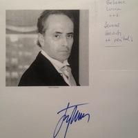 José Carreras autogramja és saját kezű jegyzetei