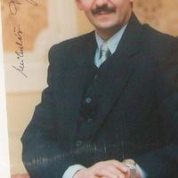 Mikulás Dzurinda szlovák politikus autogramja