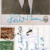 Páger Antal (1899-1986) kézzel írott képeslapja a háborúból