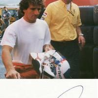 Alain Prost autogramja (Forma-1 világbajnokok sorozat)