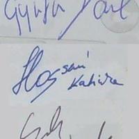 Gyurta Dániel, Hosszú Katinka és Cseh László autogramja