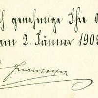 I. Ferenc József aláírása