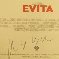 Andrew Lloyd Webber autogramja