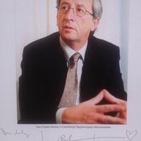 Jean-Claude Juncker dedikációja és kézírása