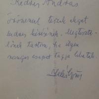 Illés György (1914-2006) operatőr dedikációja