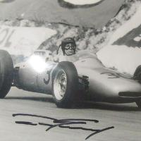 Dan Gurney autóversenyző autogramja