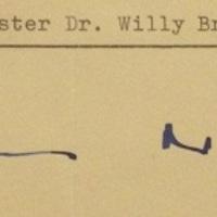 Willy Brandt (1913-1992) autogramja