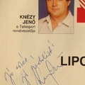 Knézy Jenő (1944-2003) dedikációja