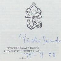 Püski Sándor (1911-2009) dedikációja