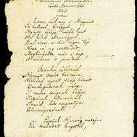 A Himnusz kézirata (Kölcsey Ferenc (1790-1838) aláírásával)