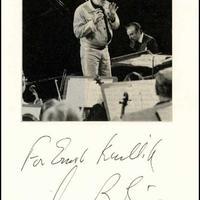 Leonard Bernstein (1918-1990) dedikált fényképe