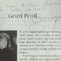 Geszti Péter dedikációja