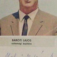 Baróti Lajos (1914-2005) szövetségi kapitány dedikációja