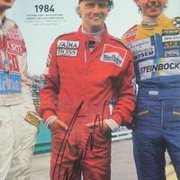 Niki Lauda autogramja (Forma-1 világbajnokok sorozat)