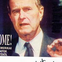 George Herbert Walker Bush autogramja